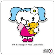 Uit diep respect voor Dick Bruna #tekenaar #dickbruna #overleden #nijntje #lievelieverd #respect