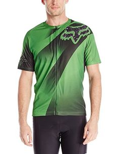 Fox Mens Livewire Descent Jersey Green Large >>> Learn more by visiting the image link. (Note:Amazon affiliate link) #CyclingJersey