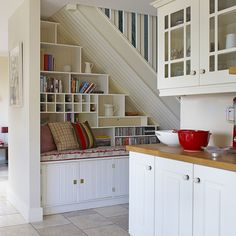 Creative ways to use the space under the stairs