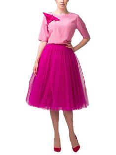 mellbella.com says BE BOLD!  Belle House Women's Elegant High Waist Tulle A-line Tutu Skirt  #tulle #skirt #tutu #tummytime #pink