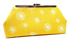 Yellow White Dandelions Clutch Purse by CreationsByAngel on Etsy, $40.00