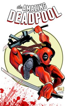 The Amazing Deadpool! Tribute to Todd McFarlane and Rob Liefeld by Terry Parr
