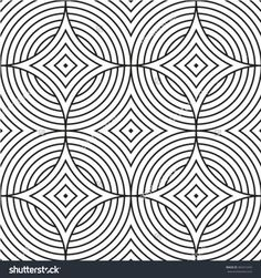 Black and white style pattern with circle. Abstract geometric black and white texture. A seamless vector background.