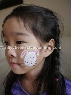 Face Painting a little bunny A perfect Easter design easter