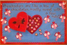February bulletin boards | February Bulletin Board - 3 dimensional box of ... | iLove School- 6 ...