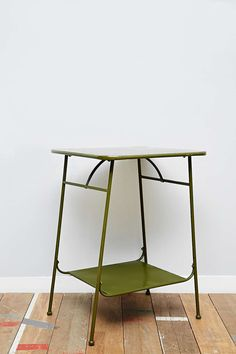 Factory Side Table in Army Green