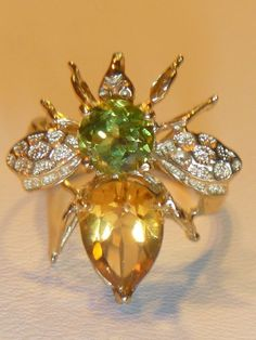 peridot & citrine Bee for Bob and Me!