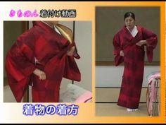 【きもの京小町】きもの初心者の方におすすめ♪着物着付けお稽古『 長襦袢の着方』 - YouTube