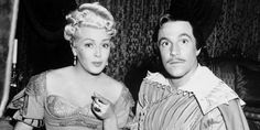 Lana Turner and Gene Kelly durning filming of THE THREE MUSKETEERS