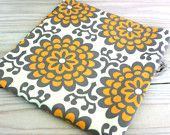 gray and orange fabric