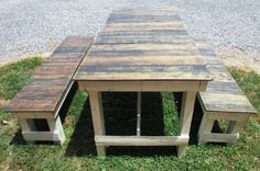 DIY French Style Pallet Picnic Table | EASY DIY and CRAFTS More
