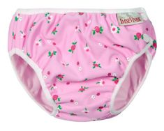 Imse Vimse Swim Diaper Pink Flowers Super Large [Health and Beauty] 24 months and up. 28-36 pounds.