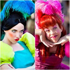 Drizella and Anastasia I need someone to dress up with me like this for the next Run Disney race I do!!