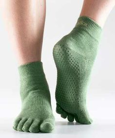 Full-ToeSox With Grip -- For yoga / dance stretching