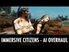 Skyrim Mod: Immersive Citizens - AI Overhaul - YouTube Tes Skyrim, Skyrim Mods, Cheap Games, Elder Scrolls, Citizen, Videogames, Wonder Woman, Superhero, Youtube
