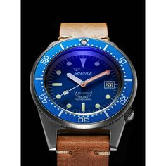 Squale 50 Atmos 1521 'Satinato' Blue Dial Limited Edition - Diving - Ranges | Page & Cooper
