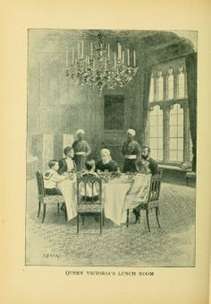 Queen Victoria's Lunch Room, from: Breakfast, dinner and supper; or, What to eat and how to prepare it. (Philadelphia,1897)