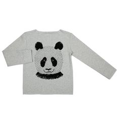 "Image of baby boy sweatshirt Dadamora ""Hipster"" gray panda"