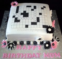 crossword puzzle cake ideas | Pin Crossword Puzzle Cake Sydney Birthday Ideas Cake on Pinterest