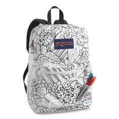 sharpie backpack :D awesome! Animal Backpacks, Colorful Backpacks, Girl Backpacks, School Backpacks, Diy Backpack, Jansport Backpack, Travel Backpack, Bags 2015, Animal Bag