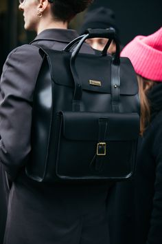 Street Style Shots: London Fashion Week Men's Day 2 Men's Backpack, Leather Backpack, Fashion Backpack, Dr Martens Backpack, Dr. Martens, My Style Bags, Briefcase Women, London Fashion Week Mens, Ysl Bag
