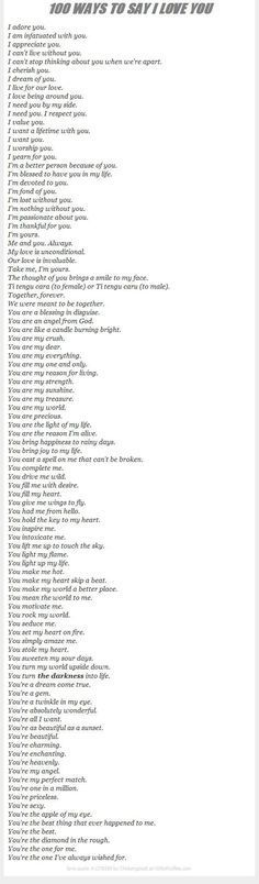 100 ways to say i love you love love quotes relationship quotes relationship quotes and sayings Say Love You, Love Of My Life, My Love, I Adore You, I Love You Funny, Reasons I Love You, Love You More, You Are Awesome, Fun Funny