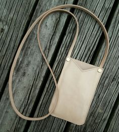 Items similar to Handmade vege tan phone pouch, custom made on Etsy Custom Made, My Etsy Shop, Pouch, Phone, Leather, Handmade, Bags, Shopping, Check