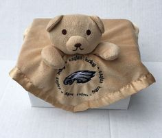 Baby Fanatic Eagles baby Bear Security Blanket Lovey Philadelphia Eagles Plush #NFLPhiladelphiaEagles