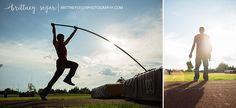 Pole vaulting senior photo // Johnson Kansas Senior Photographer