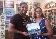 Another happy couple with an by depicting skyline sold at at 228 Craven St. Carol Jones, New Bern, Greater Good, Contemporary Artwork, Local Artists, Art Photography, Skyline, Couple, Landscape