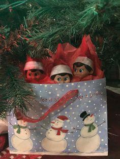Elf on the Shelf hiding spot 12 Days Of Christmas, A Christmas Story, Elf Games, Christmas Holidays, Christmas Crafts, Awesome Elf On The Shelf Ideas, Elf On The Self, Buddy The Elf, Dobby