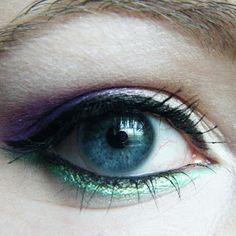 Different color eyeliner under.,