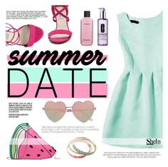 """""""The watermelon bag"""" by tasnime-ben ❤ liked on Polyvore featuring Chelsea & Zoe, MAC Cosmetics, Clinique, River Island, Sheinside and shein"""