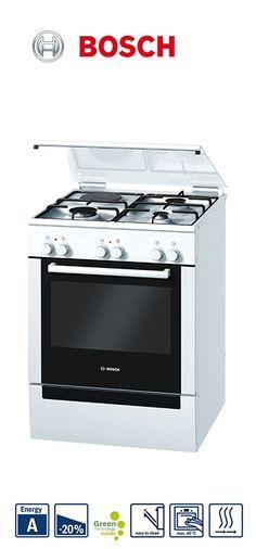 Cuisinière mixte - 60cm | Four multifonction | 3 foyers gaz + 1 électrique | Nettoyage catalyse