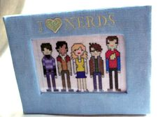 Big Bang Theory Framed Cross Stitch I Love by SnarkyLittleStitcher, $17.00
