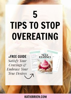 5 Tips to Stop Overeating. Many American's struggle to gain energy or lose weight simply because they are overeating. Learn the simple, yet effective, techniques for ending overeating!