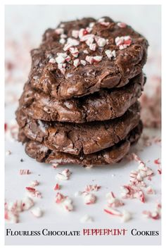 Flourless Chocolate Peppermint Cookies are naturally gluten free and make a perfect cookie for holiday gifting. #ad #CelebrateWithCoffee
