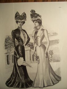 VICTORIAN FASHIONS / 1900s Butterick Pattern by PapersAndMore, $10.00