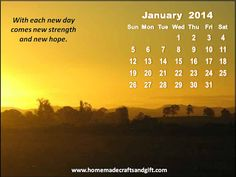 Free : Big January 2014 Calendar wallpaper