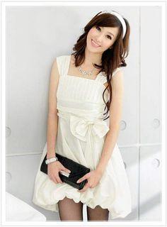 Party-cute-girls-2012-2013-New-Korean-Style-Dress-2012-White-Dress