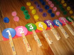 Number Practice with Color Poms and by KeepingMyKiddoBusy on Etsy, $6.75
