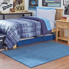 Light Blue 4 x 6 Solid Area Rug | Dorm Room Decor | OCM.com