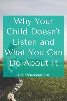 Whether you have a highly sensitive child or not, kids just don't always listen. and it's frustrating. but if we dissect not listening, in most cases Parenting Teenagers, Parenting Advice, Mindful Parenting, Gentle Parenting, Mentally Strong, Negative Self Talk, Kids Behavior, Highly Sensitive, What You Can Do
