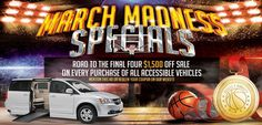 Come take advantage of our MARCH MADNESS Super Sale. www.access2mobility.com #wheelchairvansale #tylerdisability
