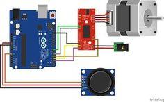 Arduino Stepper Easy Driver Joystick