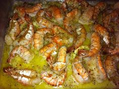 1 lb shrimp, dry ranch mix, 1 sliced lemon, 1 stick butter  Preheat oven to 350. Melt butter and cover bottom of baking dish. Layer lemon slices on top of butter. Using THAWED shrimp layer on top of butter. Sprinkle with italian seasoning. Bake for 15 - 20 minutes.  From: 3 ingredient recipes - Page 33 - Low Carb Friends