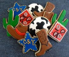 It's a Western Cowboy Rodeo Sugar Cookie by NotBettyCookies, $38.00