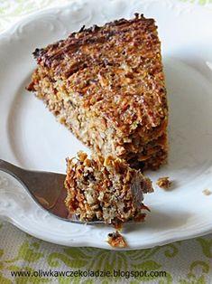 Oliwka w czekoladzie: Dietetyczne ciasto marchewkowe Banana Bread, Sweet Tooth, Sweets, Cooking, Recipes, Diet, Bakken, Kitchen, Gummi Candy