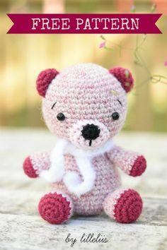 Alpaca teddy bear | lilleliis, #crochet, free pattern, amigurumi, stuffed toy, #haken, gratis patroon (Engels), teddy beer, knuffel, speelgoed, #haakpatroon