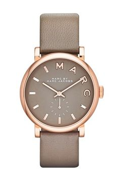 MARC BY MARC JACOBS 'Baker' Leather Strap Watch, 37mm at #Nordstrom